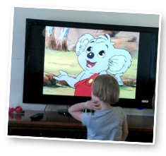 """Wish Child Sophie was watching """"Blinky"""" on TV at her Home Visit. """"Blinky"""" has been calling her for 18 months when she's in hospital or at home!"""