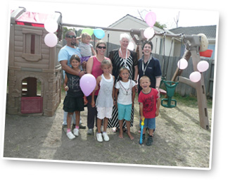 """We then had a Wish Party with Kailin's family , friends, Make-A-Wish Volunteers and our """"Fairy Builders!"""""""